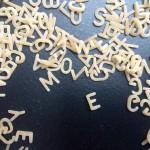 Buchstaben-Nudeln